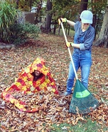Gardener and a Pile of Leaves Homemade Costume