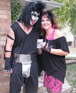 Gene Simmons and Groupie Couple Costume