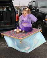 Genie on a Magic Carpet DIY Halloween Costume