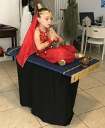 Genie on a Magic Flying Carpet Homemade Costume