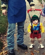 Geppetto and his puppet Pinocchio Homemade Costume