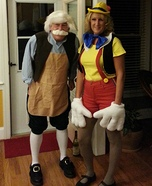 Geppetto and Pinocchio Couple Costume