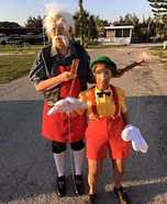 Geppetto and Pinocchio Homemade Costume
