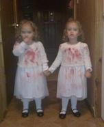 Ghost Twins Homemade Costume