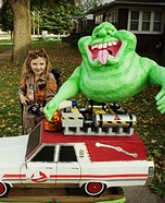 Ghostbuster and Slimer Homemade Costume