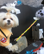 Ghostbuster Dog Homemade Costume