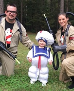 Ghostbusters and the Stay Puft Marshmallow Man Homemade Costume
