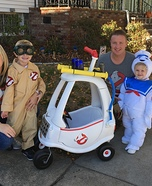 Ghostbusters Family Homemade Costume