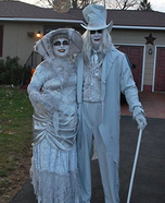 Ghostly Lady & Gent Couple Costume