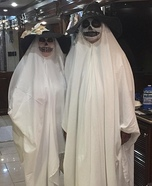 Ghosts Couple Homemade Costume
