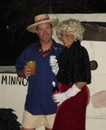 Gilligan's Island Couple Homemade Costume