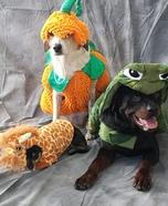 Giraffe, Pumpkin & Turtle Dogs Costume