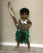 Girl Maui Homemade Costume