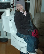 Girl sitting on Toilet Costume
