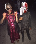 Girl Vampire and Jason Homemade Costumes