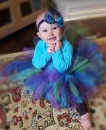 Glamorous Peacock Baby Homemade Costume