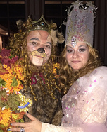 Glinda and Cowardly Lion Homemade Costume