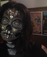 Glitter Skull Homemade Costume