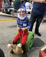 Gnome riding Snail Homemade Costume