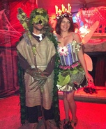 Go Green Fairy and the Goodwill Goblin Homemade Costume