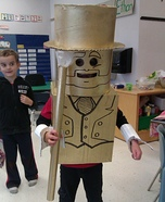 DIY Gold Lego Man Costume