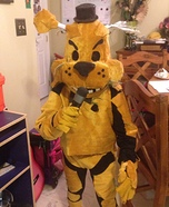 Golden Freddy Homemade Costume
