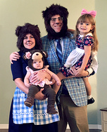 Children's book Halloween costumes - Goldilocks and the Three Bears Family Costume