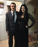 Gomez and Morticia Adams Homemade Costume