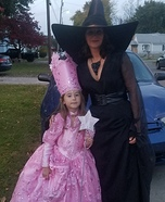 Good and Bad Witch of Wizard Of Oz Homemade Costume