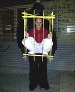 Gorilla Man in a Cage Homemade Costume