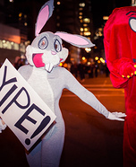 Gossamer and Bugs Bunny Homemade Costume