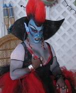 Goth Vampire Homemade Costume