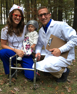 Granny with her Nurse & Doctor Homemade Costume
