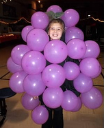 Homemade Grapes Costume for Girls