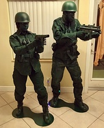 Green Army Toy Soldiers Homemade Costume