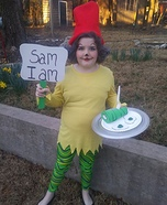 Green Eggs and Ham Dr. Seuss Homemade Costume
