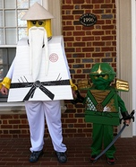Green Ninja Lloyd and Sensei Wu Homemade Costume