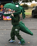 Green T Rex from Dinosaur Train Homemade Costume
