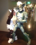Couples Halloween costume idea: Gremlins Gizmo and Stripe Couple Costume