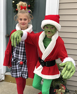 Grinch and Cindy Lou Who Homemade Costume