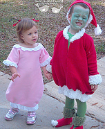 Homemade Grinch and Cindy Lou Who Costumes