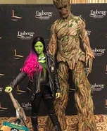 Groot and Gamora Homemade Costume