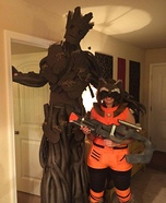 Groot and Rocket Couple's Halloween Costume