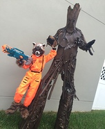 Groot and Rocket Homemade Costume