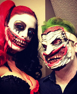 Gruesome Joker and Harley Quinn Homemade Costume