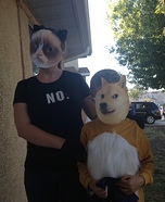 Grumpy Cat and Doge Homemade Costumes