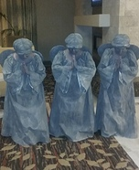Guardian Angel Statues Homemade Costume