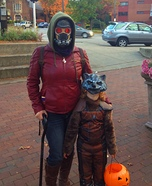 Guardians of the Galaxy Star Lord and Rocket Costume