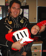 DIY matching costumes for babies and parents - Elvis and Baby-Guitar Homemade Costume