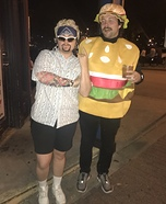 Guy Fieri and Cheeseburger Homemade Costume
